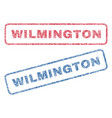 wilmington textile stamps vector image vector image