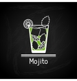 with glass of mojito for menu cover vector image vector image