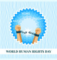 world human rights day concept background flat vector image vector image
