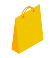 yellow paper shop bag icon isometric style vector image vector image