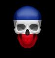 yugoslavian flag skull vector image vector image