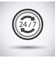 24 hour taxi service icon vector image