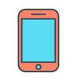phone line icon linear symbol vector image