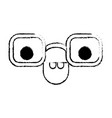 animated glasses with smiling expression in black vector image vector image