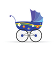 baby carriage in blue color vector image vector image