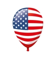 balloon america flag usa vector image