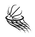 basketball logo simple stylized line art