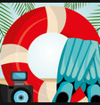 beach landscape with float lifeguard vector image vector image