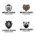 bear logo design vector image vector image
