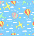 best travel cartoon seamless pattern vector image
