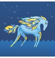 Blue Night Horse vector image