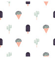 cacti ice cream seamless pattern vector image vector image