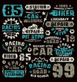 Car repair typographic elements vector image