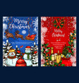 christmas greeting sketch greeting card vector image vector image
