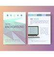 Computer Notebook Booklet magazine poster flyer vector image vector image