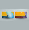 creative and clean corporate business card vector image