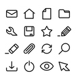 crisp interface icons vector image