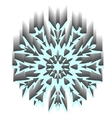 Decorative abstract snowflake vector image vector image