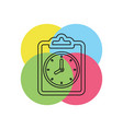 document with clock icon questionnaire vector image vector image