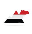 egypt icon like flag vector image vector image