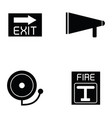 firefighter icon set vector image vector image
