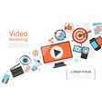 flat business video marketing template vector image