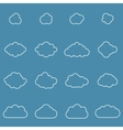 Flat design cloudscapes collection vector image