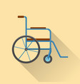 flat style wheelchair icon vector image