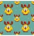 Funny Chicken Winter Pattern vector image vector image