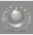 Glass transparent christmas ball Xmas design vector image vector image