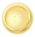 gold round sewing button vector image vector image