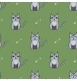 Gray cute cartoon cat backgrouns vector image vector image