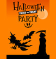 halloween holiday cartoon poster or banner design vector image