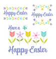 hand drawn pastel happy easter graphics vector image vector image