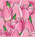 hand drawn tulip seamless pattern vector image vector image