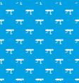 hand drill pattern seamless blue vector image vector image