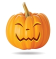 happy pumpkin vector image vector image