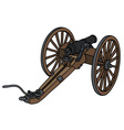 Historic wooden cannon vector image vector image