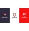 home shield logo design vector image vector image