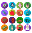 hunting business army and other web icon in flat vector image vector image