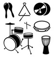 icons of shock musical instruments vector image vector image