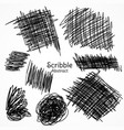 ink lines of pen in scribble style hand drawn set vector image vector image