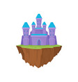 island castle on white background purple magic vector image vector image