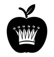 king apple icon simple black style vector image vector image