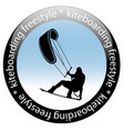 kiteboarding freestyle rider icon vector image vector image