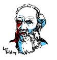 leo tolstoy vector image vector image
