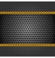 metallic background template perforated iron sheet vector image vector image