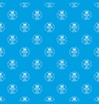 modeling 3d printing pattern seamless blue vector image vector image