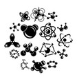 molecule icons set simple style vector image vector image