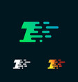 number 1 modern speed shapes logo design vector image vector image